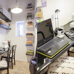 Jedno pomieszczenie przeznaczono na domowe biuro. Tutaj pan i pani domu mogą w spokoju popracować. Projekt: Joanna Pytlewska-Bil i Danuta Dziubek. Zdjęcia: Łukasz Borusowski.