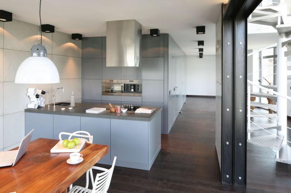 Bardzo efektowna kuchnia w Modna kuchnia urządź ją w   -> Kuchnia Angielska Oświetlenie