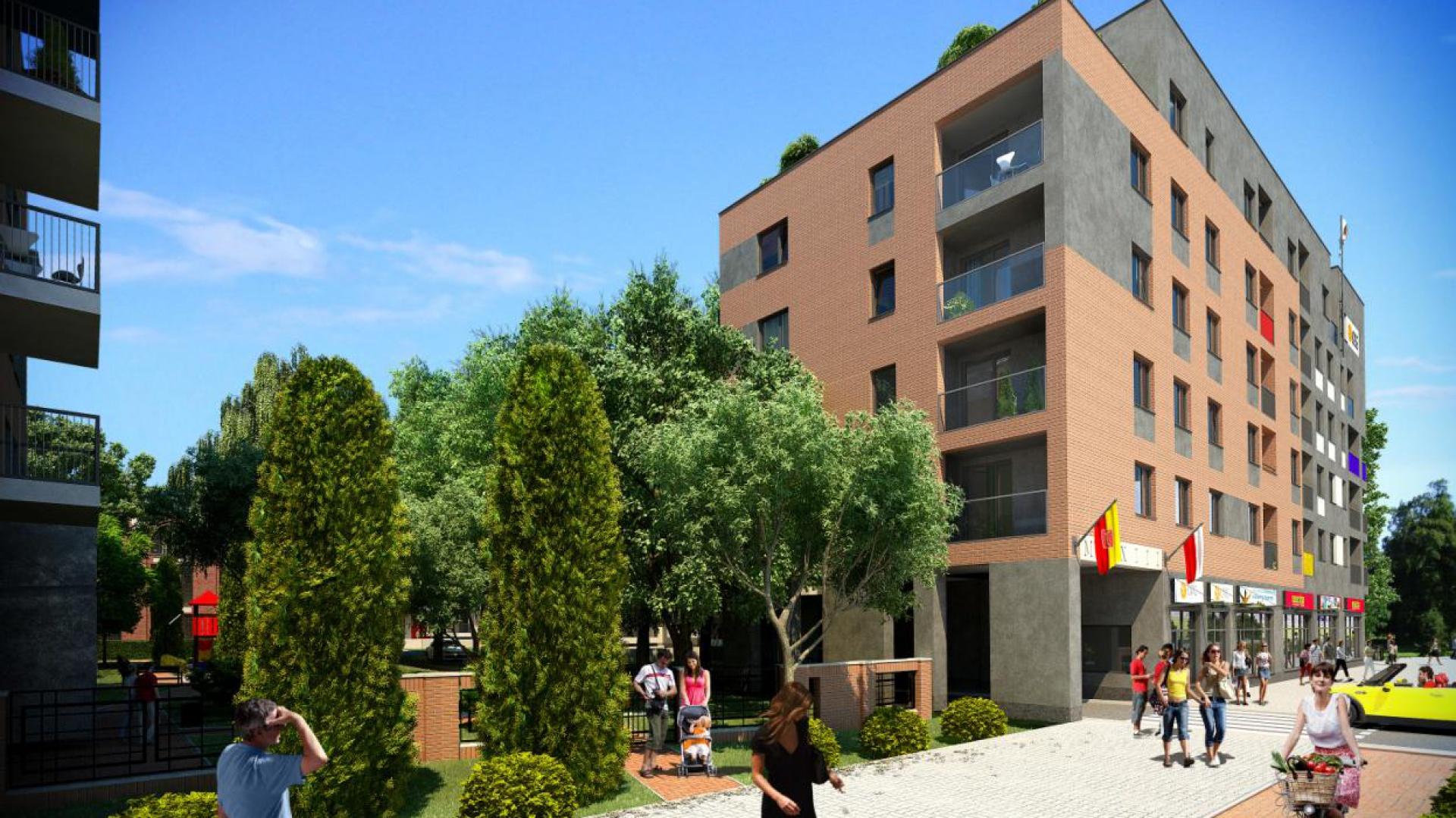 Nowe osiedle mieszkaniowe ma pojawić się u zbiegu ulic Wróblewskiego, Wólczańskiej i Skrzywana w Łodzi. Fot. Materiały prasowe
