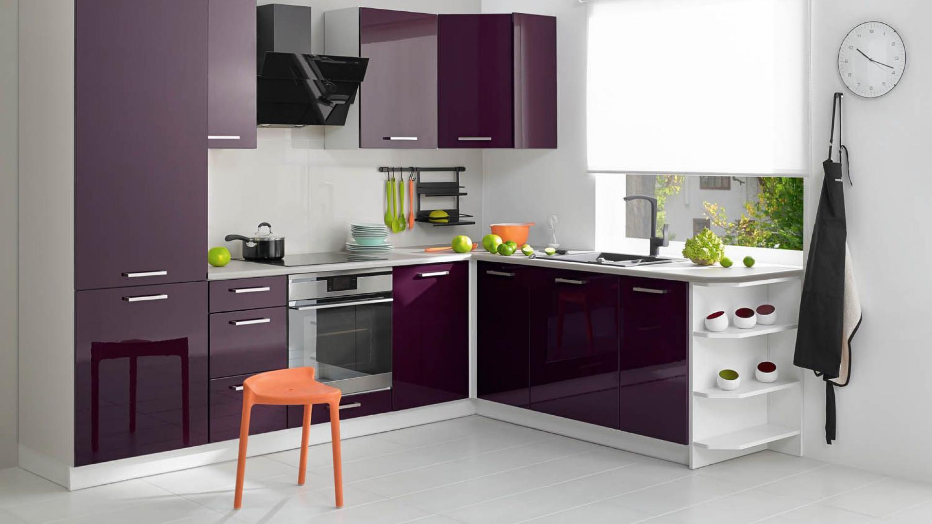 Lakier w kolorze głębokiego Kuchnia na wysoki połysk 15 propozycji prod   -> Castorama Inspiracje Kuchnia