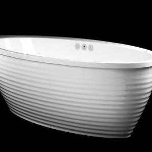 Wannę Boomerang marki Vayer cechują przede wszystkim piękne linie i opływowy kształt. To idealny model do długich, relaksujących kąpieli. Fot. Vayer.