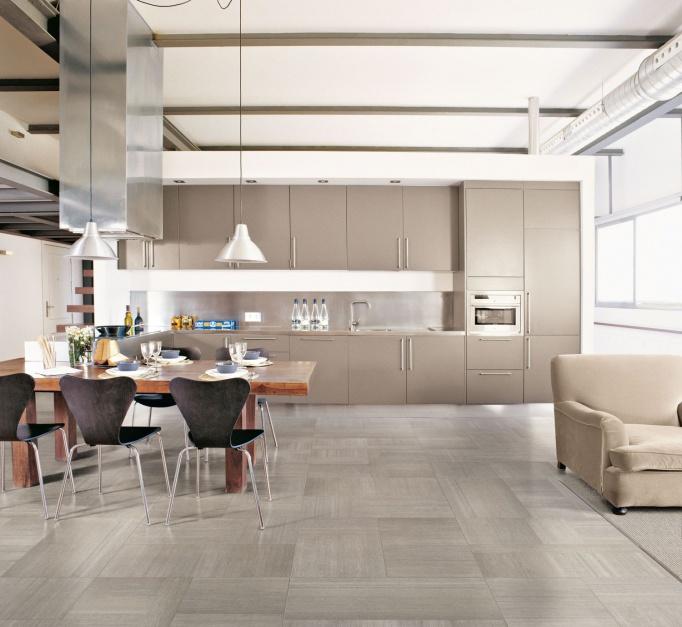 Eleganckie płytki Płytki na podłogę w kuchni i   -> Kuchnia Beżowe Plytki