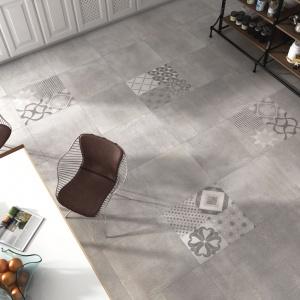 Płytki ceramiczne Napoles to połączenie dwóch modnych w tym sezonie tendencji: motywów etnicznych oraz efektu betonu. Fot. Tau Ceramica.