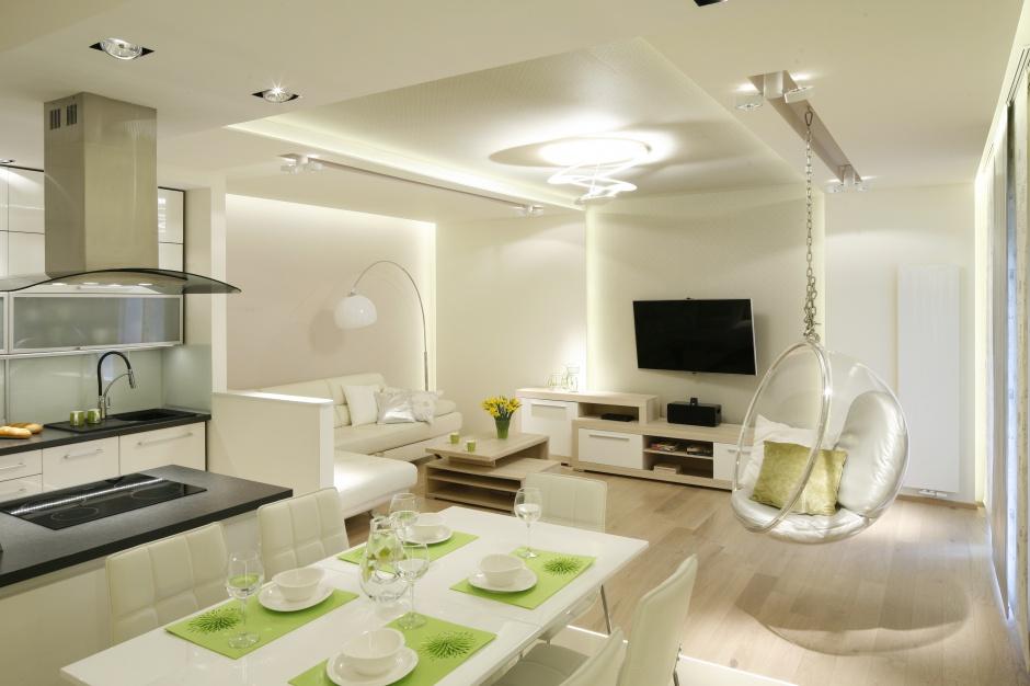 Otwartą strefę dzienną Salon z kuchnią 20 pięknych zdjęć -> Kuchnia Jadalnia Salon Razem
