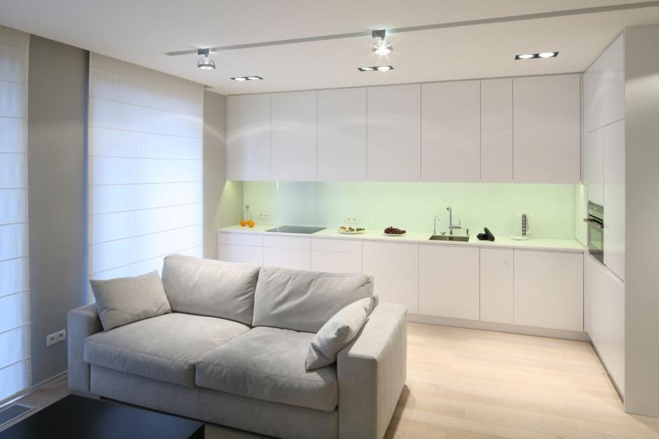 Białe meble kuchenne z Małe kuchnie Pomysły i