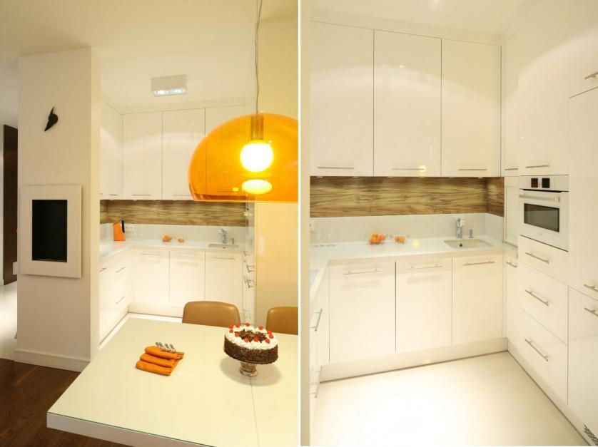 Biała zabudowa kuchenna Małe kuchnie Pomysły i   -> Kuchnie Male Inspiracje
