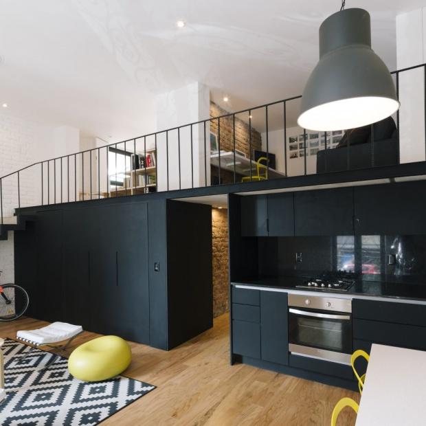 Nowoczesne wnętrze w stylu loft