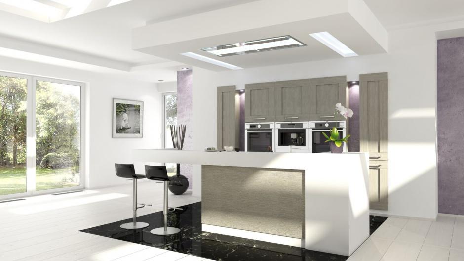 Trochę nowoczesna, trochę Wysoka zabudowa w kuchni 15 pięknych zdjęć  -> Salon Kuchnie Rust