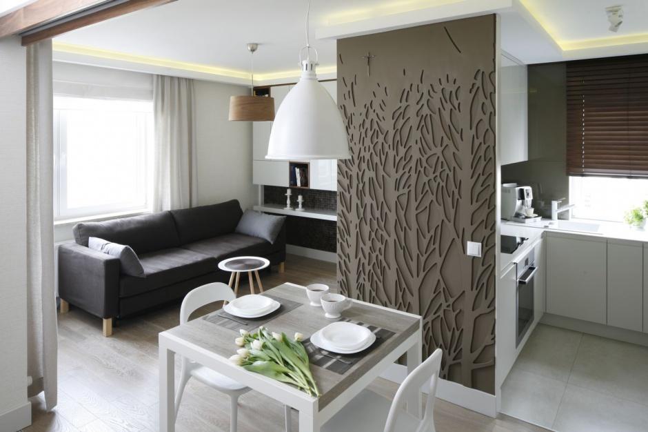 Niewielkie mieszkanie Salon w bloku 15 propozycji aranżacji -> Aranżacja Salonu Z Kuchnią W Bloku