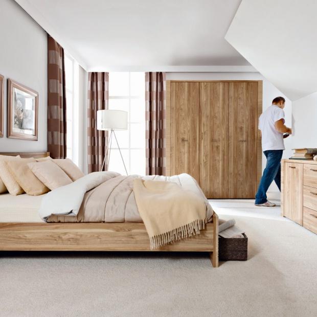 Meble do sypialni z rysunkiem drewna. 15 nowości