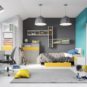 Kolekcja modułowa Caps to duża ilość mebli, dzięki którym stworzysz funkcjonalną przestrzeń dziecięcą w domu. Fot. BRW.