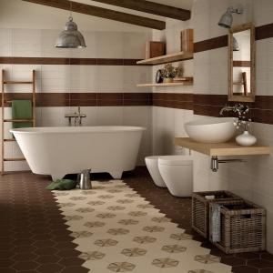 Stylowa podłoga - płytki ceramiczne w kształcie sześciokątów Harmony firmy Equipe Ceramicas. Fot.  Equipe Ceramicas.