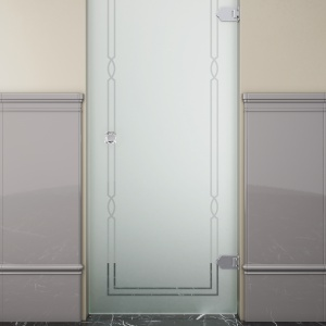 Matowe szkło i wzór w klasycznym stylu – drzwi prysznicowe Modern firmy Devon&Devon. Fot. Devon&Devon.