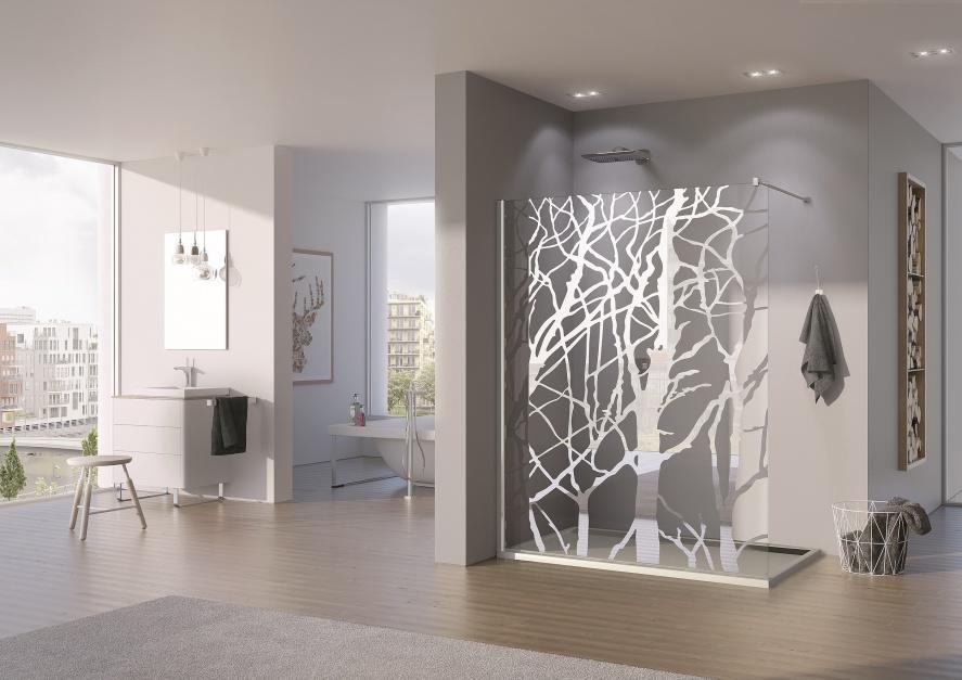 dekor lustrzany w postaci modny prysznic kupujemy