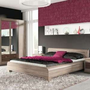 Sypialnia Fanstasy marki FM Bravo ma pięknie pokazane usłojenie, które wprowadzi do sypialni naturalny klimat. Fot. FM Bravo.