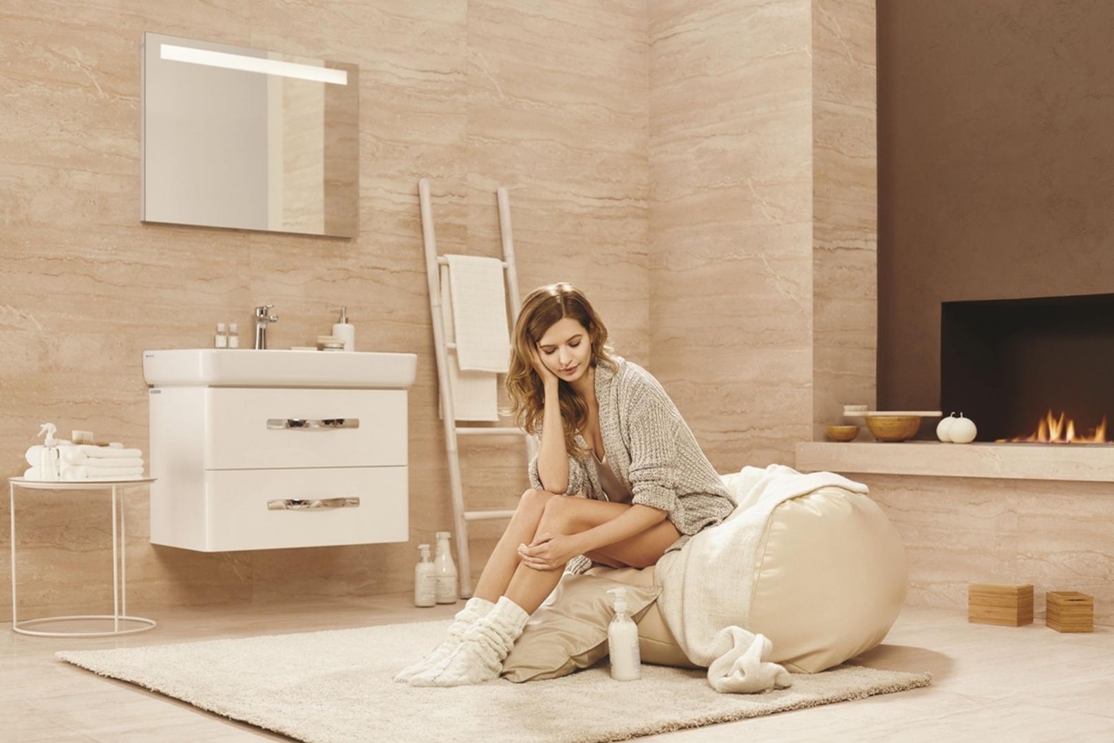 Urban Harmony to seria wyposażenia łazienki marki Opoczno, w której znajdziemy także piękne lustra. Fot. Opoczno.