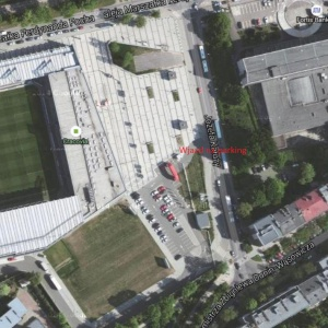 Stadion Cracovii - parking.