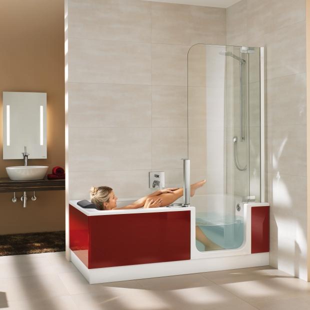 Mała łazienka. Tak połączysz wannę z prysznicem