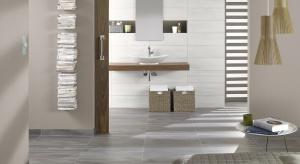 Szare płytki ceramiczne coraz częściej pojawiają się w polskich łazienkach. Nawiązują do minimalistycznego i bardzo modnego ostatnio stylu loft.