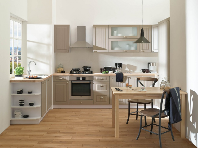 Delikatnie klasycyzująca Modna kuchnia te meble   -> Castorama Kuchnia Piano Bialy