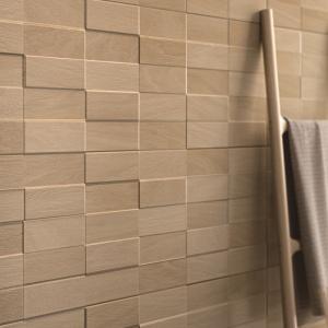 Stylizowane na piaskowiec - płytki ceramiczne jak cegły Natural Form marki Ragno. Fot. Ragno.