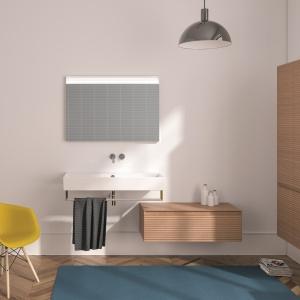 Drewno z efektem 3D - meble łazienkowe Premium Plus firmy Catalano. Fot. Catalano.