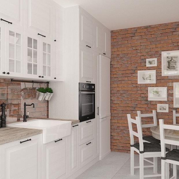 Podłogi i ściany w kuchni – glazura, terakota -> Kuchnia Z Cegly