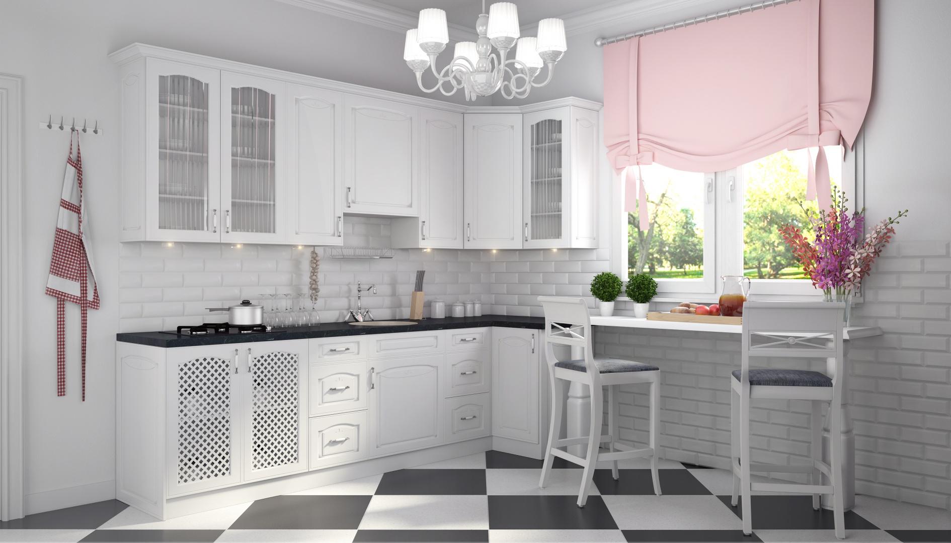 Białe fronty szafek z Biała klasyczna kuchnia 5   -> Biala Kuchnia Elegancka