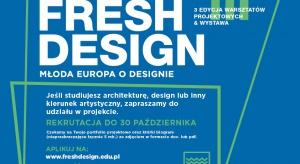 Fresh Design to międzynarodowy projekt łączący studentów architektury, designu i sztuki z Polski, Czech, Słowacji, Węgier i Niemiec w dyskusji na temat jakości życia oraz odpowiedzialnego kształtowania przestrzeni człowieka. Najbliższa edycja