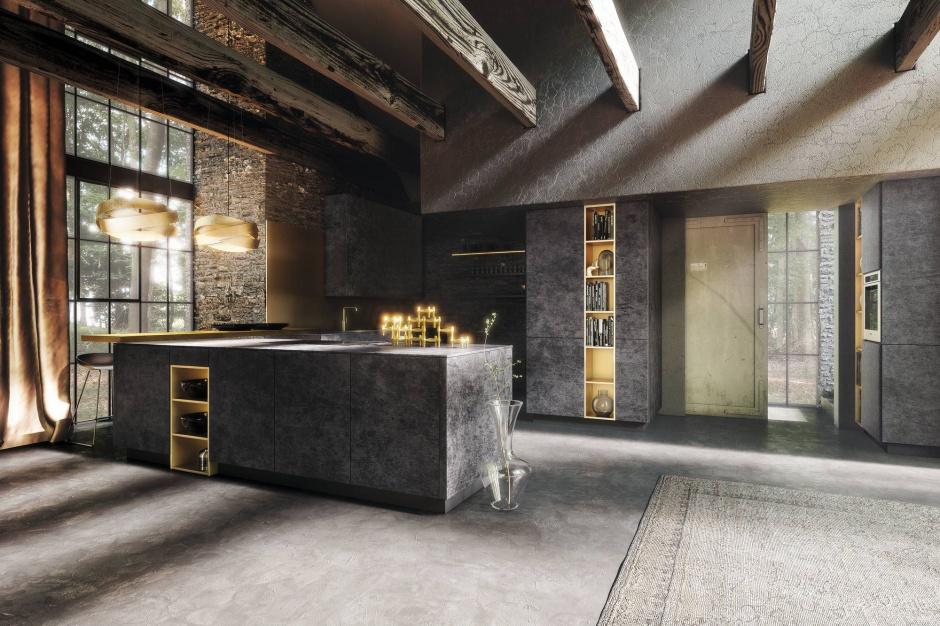 niezwyk e meble kuchenne z 10 pomys w na kuchni w ciemnym kolorze strona 6. Black Bedroom Furniture Sets. Home Design Ideas