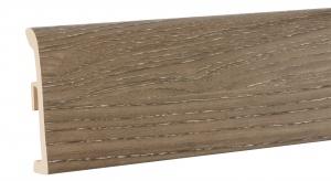 Listwa przypodłogowa Ultima Wood to pierwsze na rynku proekologiczne rozwiązanie umożliwiające uzyskanie atrakcyjnego wyglądu listwy fornirowanej, bez konieczności użycia drewna.