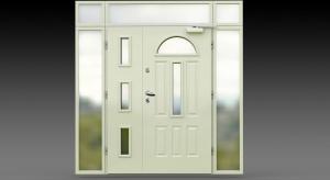 Drzwi zewnętrzne 90E 50 DUO z doświetleniem.