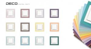 Ramki Deco Pastel Matt to grupa ramek uniwersalnych w kolorach pastelowych z wykończeniem matowym.
