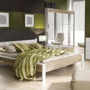 Meble do sypialni Lun. Łóżko posiada oświetlenie LED w zagłowiu. Fot. FM Bravo.