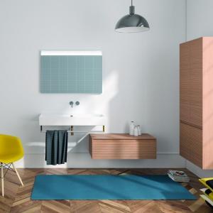 Minimalistyczne, podwieszane szafki z linii Inova marki Catalano to modna propozycja do nowoczesnej łazienki. Fot. Catalano.