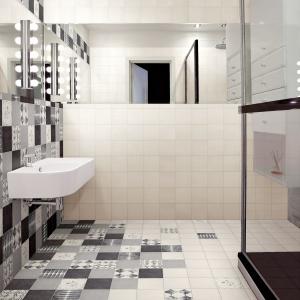 Przystosowane do układania na podłogach i ścianach - płytki ceramiczne jak patchwork Caterina Sforza firmy Cedir. Fot. Cedir.