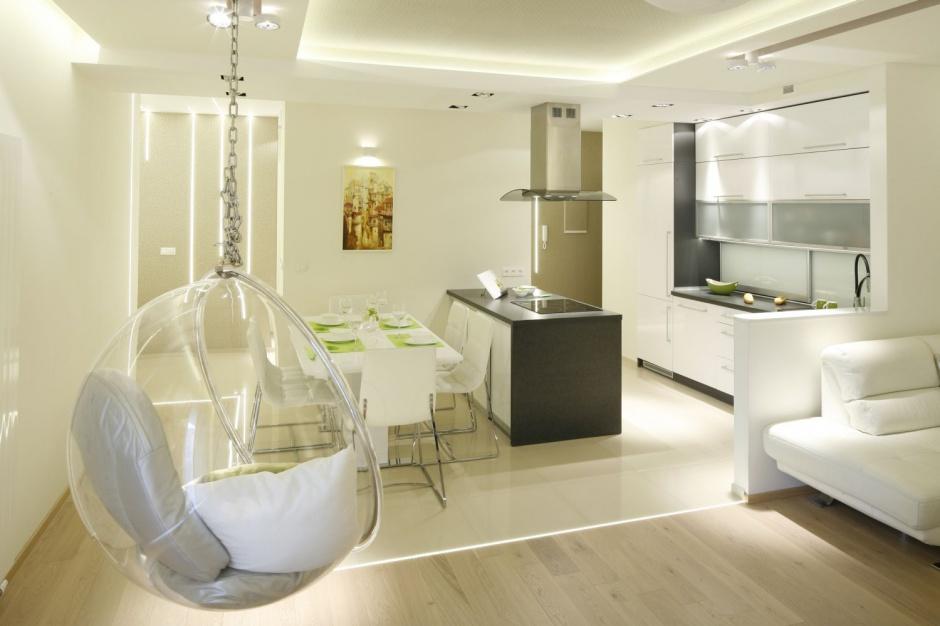 W kuchni jednorzędowa Salon z kuchnią i jadalnią 20   -> Kuchnia Jadalnia Salon Razem