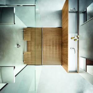 W ciasnej łazience sprawdzaj się wąskie umywalki - seria Modulo 30 o głębokości 40 cm firmy Makro Bathconcepts. Fot. Makro Bathconcepts.
