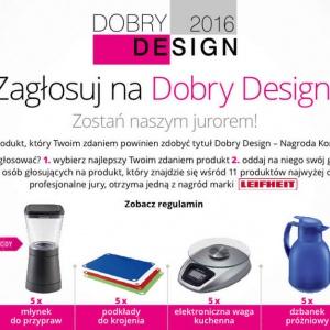 Rozpoczęła się kolejna edycja prestiżowego konkursu Dobry Design 2016. Każdy może wytypować także swój produkt i oddać głos na Nagrodę Konsumenta.