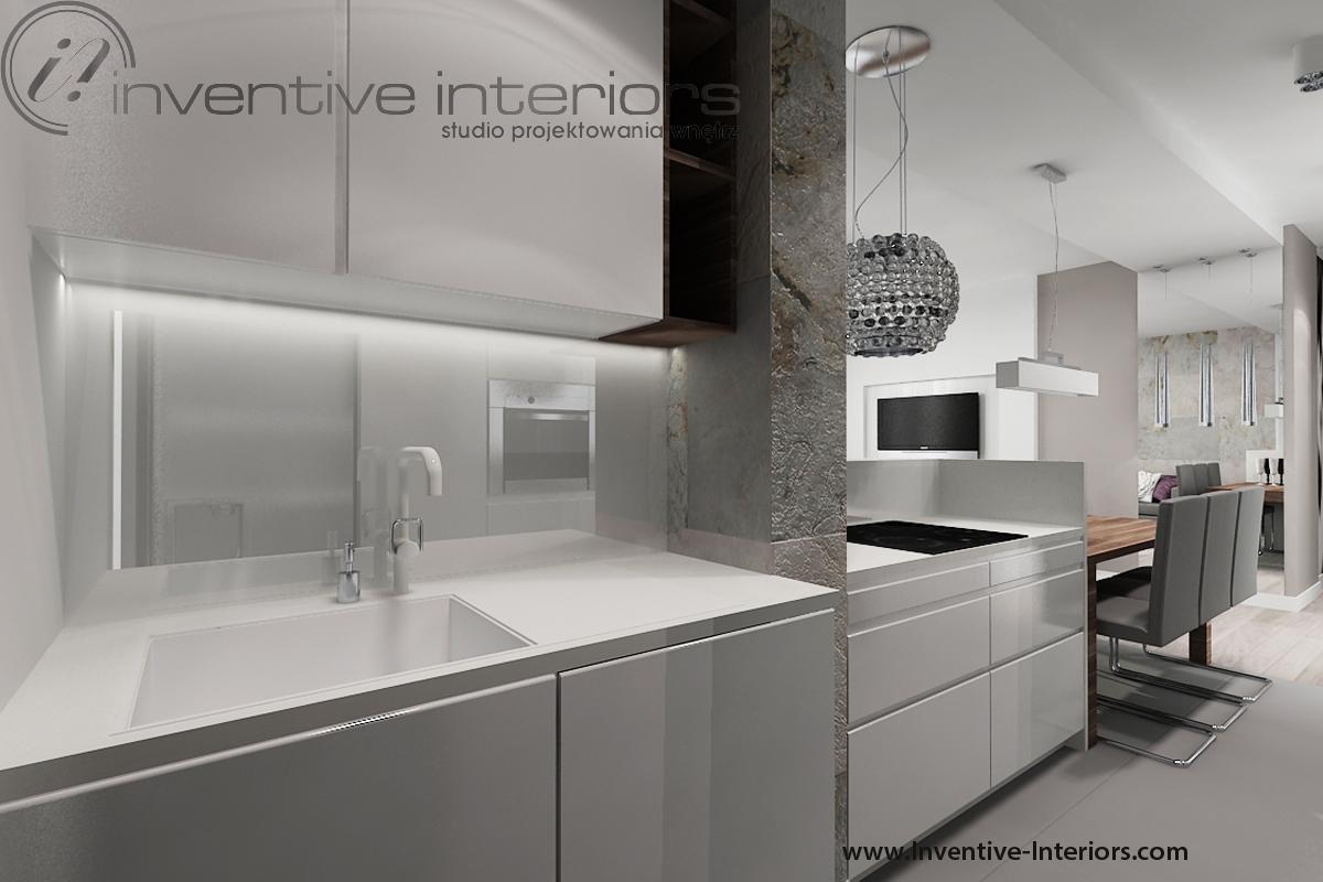 Kuchnia we wnęce. Fot. Inventive Interiors.