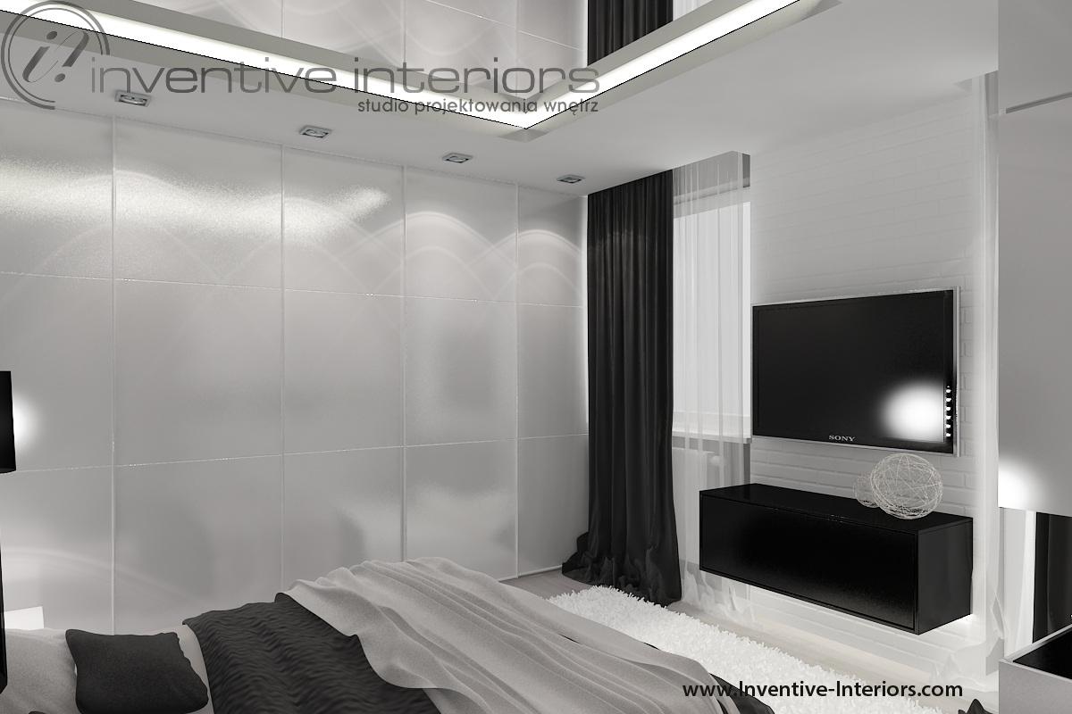 Sypialnia z dużą ilością szaf. Fot. Inventive Interiors.