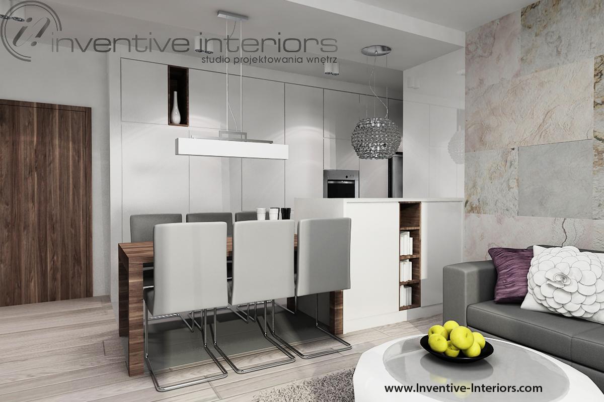 Zabudowa meblowa na wejściu do mieszkania. Fot. Inventive Interiors.