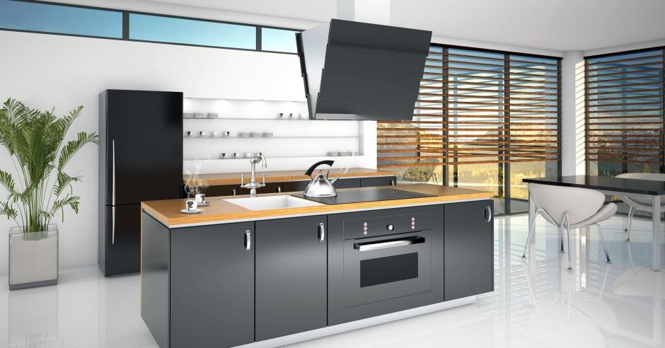 Citro X Black to nowoczesny Kuchnia z wyspą Dobierz   -> Okap Nad Kuchnia