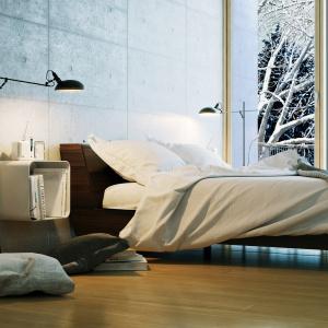 Istotnym elementem skandynawskiej sypialni może być łóżko. Zdobna rama będzie przykuwać wagę. Fot. Janpol.