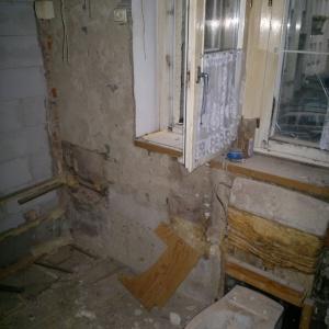 W trakcie remontu z mieszkania wyniesiono aż 10 m3 gruzu. Projekt: Patrycja Balińska-Seweryn i Mariusz Seweryn. Fot. właściciele.