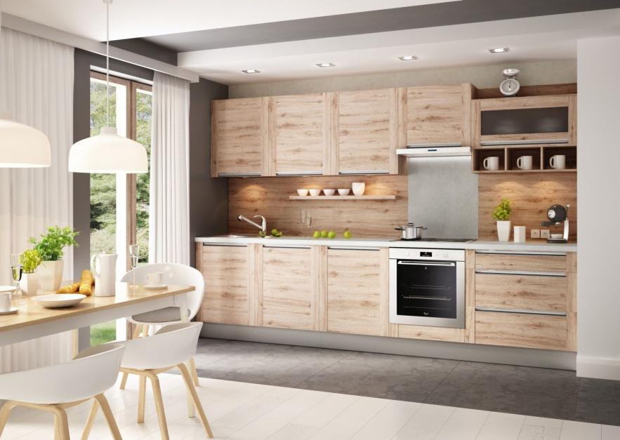Zabudowę kuchenną wpasowano Mała kuchnia 10 sposobów   -> Mala Tania Kuchnia