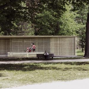 III Wyróżnienie w konkursie Projekt Łazienki 2015. Budynek zaprojektowano w konstrukcji lekkiego szkieletu drewnianego. Fot. KOŁO.