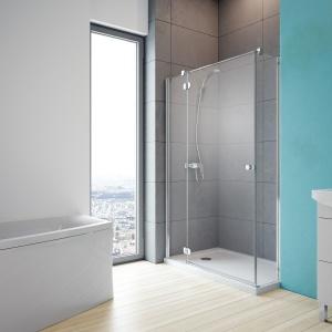 Dzięki różnym ściankom można ją instalować w nietypowych wnękach – kabina prysznicowa Torrenta KDJ firmy Radaway. Fot. Radaway.