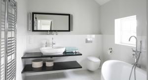 Jedni wolą biel, inni beż albo szarość. Jednak priorytetem jest ich jasny odcień. Bo jasna łazienka zawsze wydaje się większa i pełna światła.