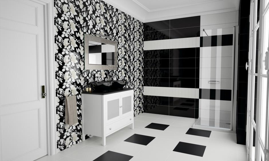 Дизайн комнат в черно-белых цветах